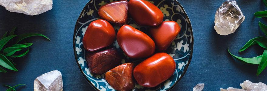 Vertus en lithothérapie de la pierre de Jaspe Rouge